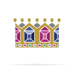 Crown icon6 resize vector image vector image