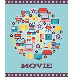 I Love Movies Concept Graphic Designs vector image vector image