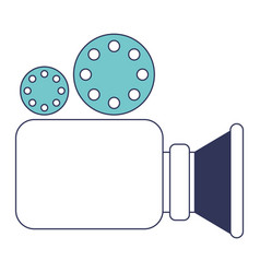 video camera icon in blue color sections vector image vector image