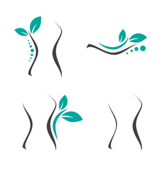 woman surgery and chiropractic logo set vector image