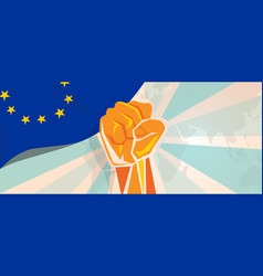 europe fight and protest independence struggle vector image vector image