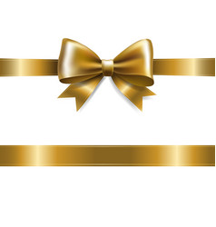 golden bow vector image vector image
