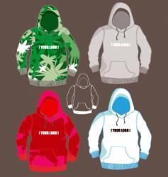 hoodies vector image vector image