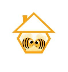 in love bee vector image