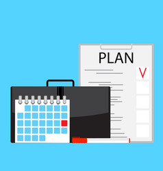 monthly plan vector image