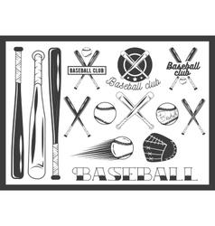 set of baseball club emblem label badges vector image vector image