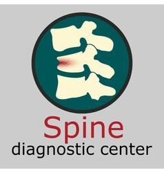 Spine diagnostic center logo vector image vector image