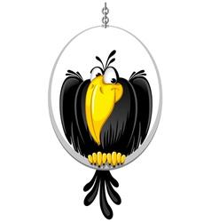 cartoon crow vector image vector image
