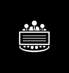 company profile icon flat design vector image