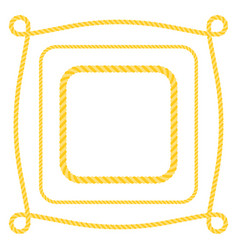 set of square frame rope vector image