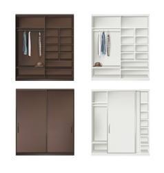 Set of wardrobes vector
