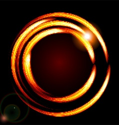 Abstract background-fire circle frame vector image