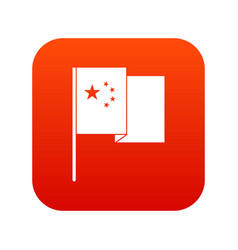 china flag icon digital red vector image vector image