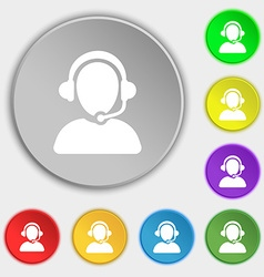 Customer support icon sign Symbol on eight flat vector image