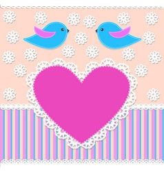 greeting card in scrapbook style vector image vector image