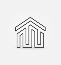 house building icon or logo vector image vector image