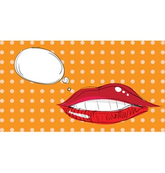 lips pop art vector image