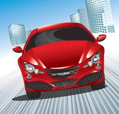 modern car vector image vector image