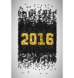 New Year 2016 Black and gold falling confetti vector image vector image
