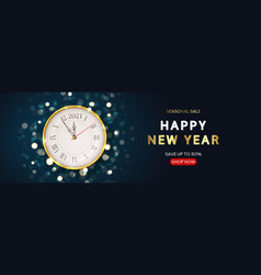 2021 happy new year sale banner vector image