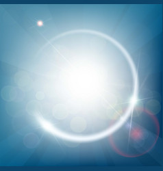 abstract blue background with bokeh and rays of vector image