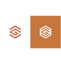 Abstract letter g hexagon logo with arrow up vector