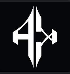 Ak logo monogram with diamond shape design vector