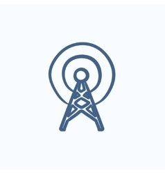 Antenna sketch icon vector image