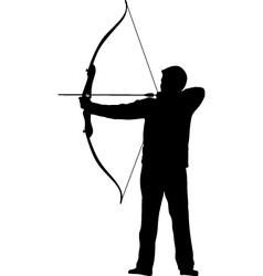 Archer bow arrow vector