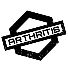 arthritis rubber stamp vector image