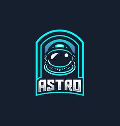 Astronaut esport gaming mascot logo template vector