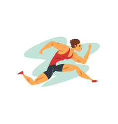 athlete man running professional sportsman at vector image
