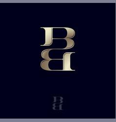 b double monogram logo combined letters emblem vector image