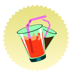 Beverages sign vector