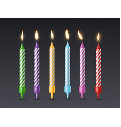 birthday candle candlelight birthday party cake vector image