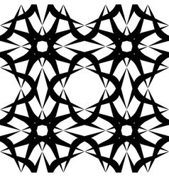 Black and white geometric seamless patter vector