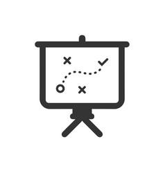 Business strategic plan icon vector