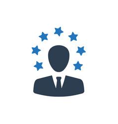 Businessman testimonial icon vector