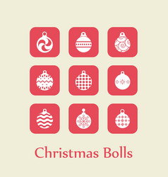 Chrismtas set of balls vector