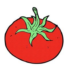 Comic cartoon tomato vector