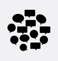 Communication bubbles design vector