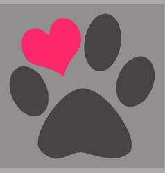 creative pet s paw vector image