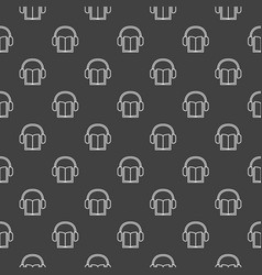 Dark minimal audiobook pattern vector