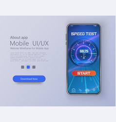 Design mobile app ui ux gui internet speed vector