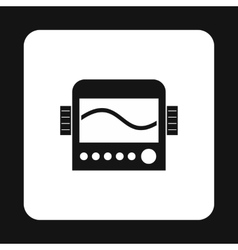 Display with cardiogram ecg machine icon vector image