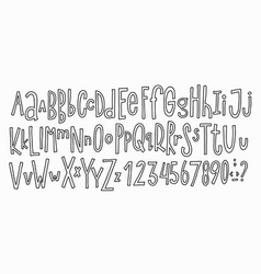 doodle simple kids alphabet vector image