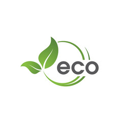 Eco green tree leaf ecology vector