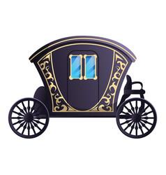 Fairytale carriage icon cartoon style vector