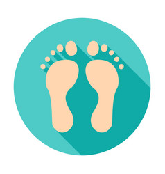 Feet circle icon vector