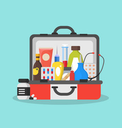 first aid kit box or suitcase vector image